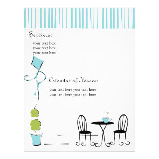 Pretty Soft Blue Door Personalized Flyer