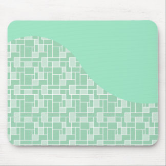 Pretty Soft Mint Green Wave Tile Pattern Gifts Mouse Pad