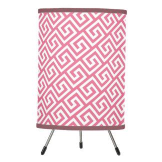 Pretty Soft Pink Celtic Key Pattern Tripod Lamp