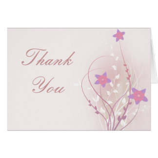 pretty soft pink flower elegant design card