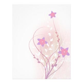 pretty soft pink flower elegant design flyer