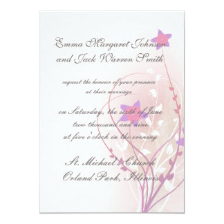 pretty soft pink flower elegant design personalized invitations