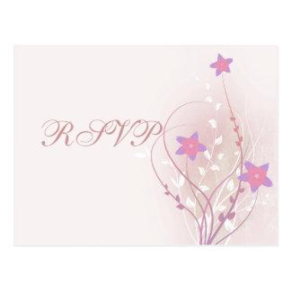 pretty soft pink flower elegant design postcard