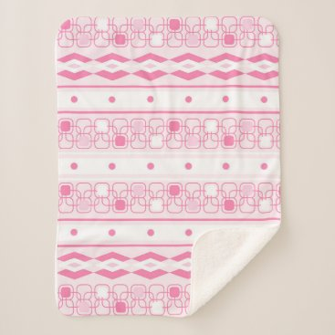 Aztec Themed Pretty soft pink girly sherpa blanket