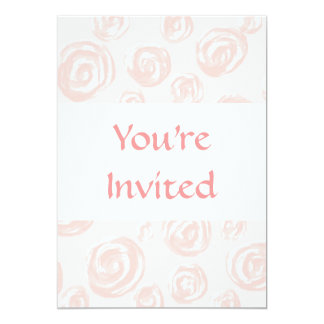 Pretty soft pink rose pattern. card