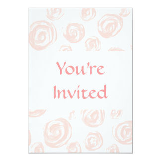 Pretty soft pink rose pattern on white. card