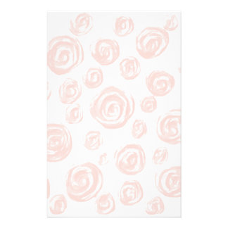 Pretty soft pink rose pattern on white. stationery