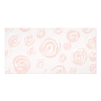Pretty soft pink rose pattern. photo card