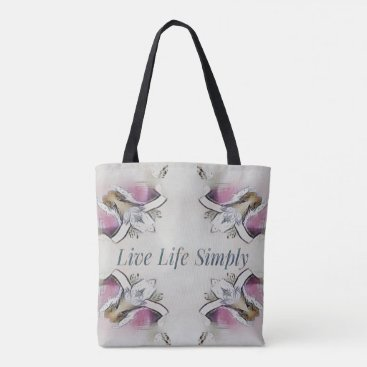 Beach Themed Pretty Soft Rose Colored Lifestyle Quote Tote Bag