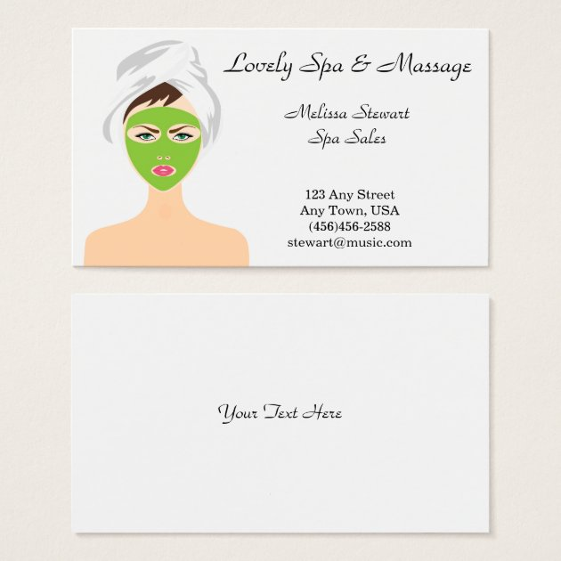 Pretty Spa and Facial Business Cards | Zazzle