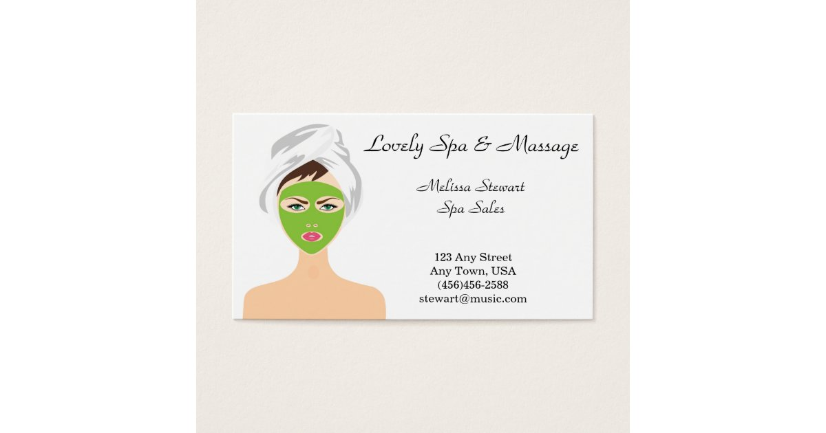 Pretty Spa and Facial Business Cards | Zazzle.com