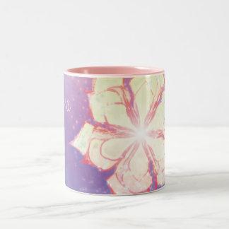 Pretty Sparkling Fantasy Flower Colorful Design Coffee Mugs