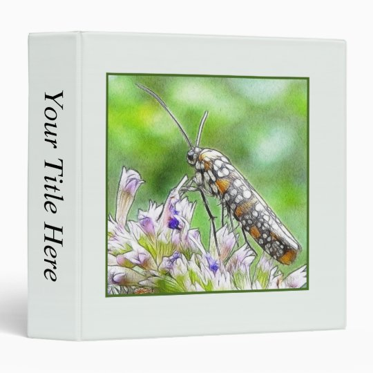 Pretty Spotted Ermine Moth on Agastache 3 Ring Binder