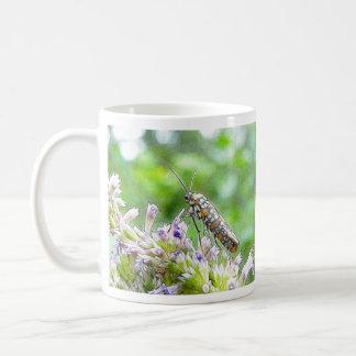Pretty Spotted Ermine Moth on Agastache Coffee Mug