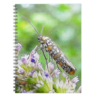 Pretty Spotted Ermine Moth on Agastache Spiral Notebooks