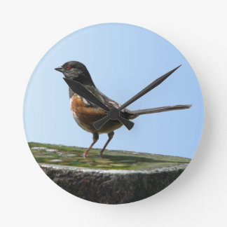 Pretty Spotted Towhee Bird Wall Clock