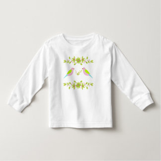 Pretty Spring Birds Floral Toddler T-shirt