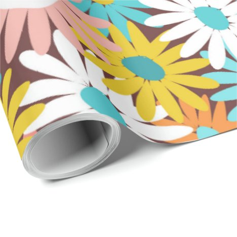 Pretty spring daisies wrapping paper