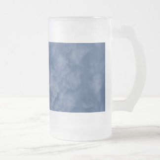 Pretty Spring Day With Fluffy Clouds Frosted Glass Beer Mug