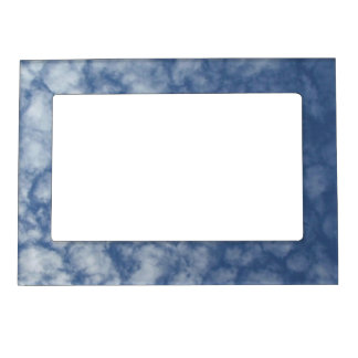 Pretty Spring Day With Fluffy Clouds Magnetic Frames