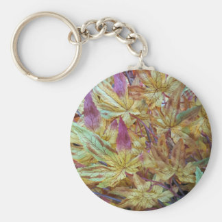 Pretty Spring Fall Leaf Combo Pattern Keychain