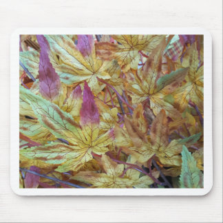 Pretty Spring Fall Leaf Combo Pattern Mouse Pad