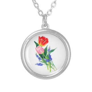 pretty spring floral necklace