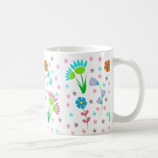 Pretty Spring Floral Pattern Coffee Mug