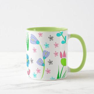 Pretty Spring Floral Pattern Mug