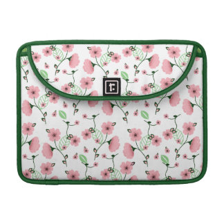 Pretty Spring Floral Pattern with Pink Flowers Sleeve For MacBook Pro