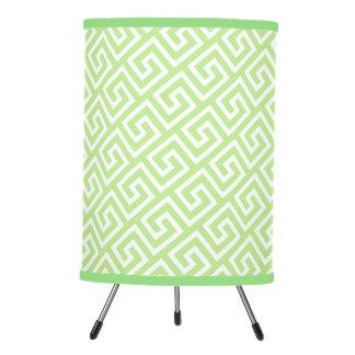 Pretty Spring Green Celtic Key Pattern Tripod Lamp