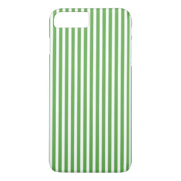 Beach Themed Pretty spring leaf green cabana stripe pattern iPhone 7 plus case