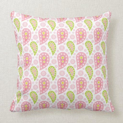 Pretty Spring Paisley Throw Pillow Zazzle