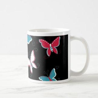 Pretty Spring Pink Blue Butterflies for Girls Coffee Mug