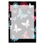 Pretty Spring Pink Blue Butterflies for Girls Dry-Erase Board