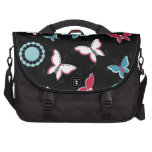 Pretty Spring Pink Blue Butterflies for Girls Commuter Bag