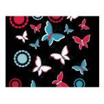 Pretty Spring Pink Blue Butterflies for Girls Post Card