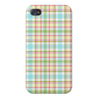 Pretty Spring Plaid for 4 Cover For iPhone 4