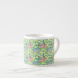 Pretty Spring Primroses Espresso Mug,
