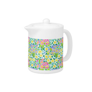 Pretty Spring Primroses Small Teapot
