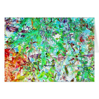 Pretty Stained Glass Jungle Art Photo Blank Inside Card