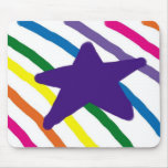 Pretty Star and Stripes Mouse Pad