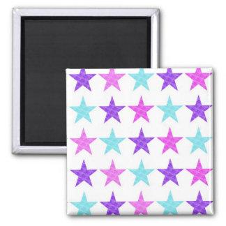 Pretty Stars 2 Inch Square Magnet