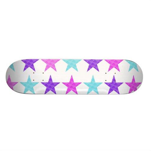 Pretty Stars Custom Skateboard