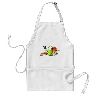 Pretty Stealthy Orange Tabby Maine Coon Adult Apron