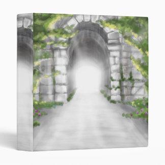 pretty stone tunnel trellis design binder