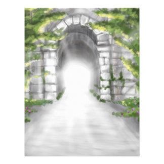 pretty stone tunnel trellis design flyer