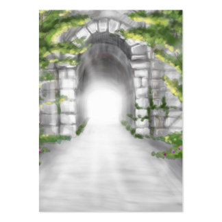pretty stone tunnel trellis design large business card