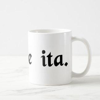 Pretty straightforward. classic white coffee mug