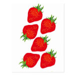 Pretty Strawberries Post Cards